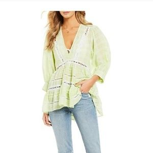 Time out lime green combo tunic